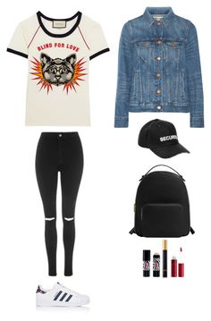 """""""Style #241"""" by maksimchuk-vika ❤ liked on Polyvore featuring Gucci, Madewell, Vetements, adidas, Topshop, MANGO, Sisley, Tom Ford and Charlotte Russe"""