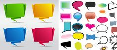 Free PSD Voice Balloons for Web Designs