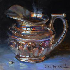 """Shining Silver"" - Original Fine Art for Sale - ©Elena Katsyura"