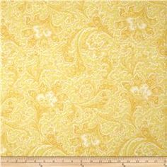 """108"""" Wide Quilt Back Rosemont Malabar Butter"""