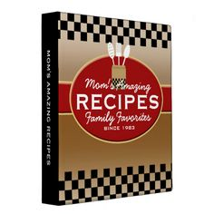 Shop Family Recipes Personalized 3 Ring Binder created by Personalize it with photos & text or purchase as is! Family Meals, Family Recipes, Cooking Light Recipes, Christmas Gift Decorations, Christmas Gifts, Recipe Binders, Binder Design, 3 Ring Binders, Custom Binders