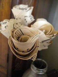 music sheet roses