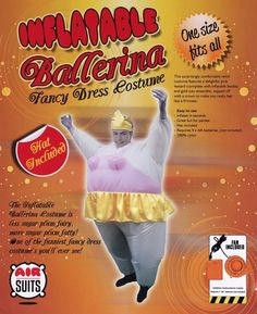 AirSuits #AufblasbaresKostüm Fatsuit Ballerina Fasching Karneval.