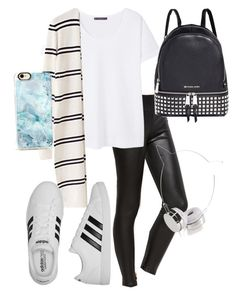 """Untitled #71"" by kittycatzaf on Polyvore featuring Violeta by Mango, adidas, Michael Kors, Skinnydip and Casetify"