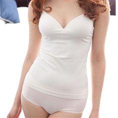 82927ec055 Sexy Women Clothes Women Modal Adjustable Strap Built In Bra Padded Self  Mold Bra Tank Tops