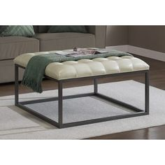 Shop for Healy Cream Leather Tufted Ottoman. Get free shipping at Overstock.com - Your Online Furniture Outlet Store! Get 5% in rewards with Club O! - 15254114