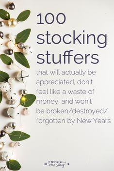 100 stocking stuffers that will actually be appreciated, don't feel like a waste of money, and won't be broken/destroyed/forgotten by New Years. Many of these are easy last minute stocking stuffer ideas. Homemade Christmas, Diy Christmas Gifts, All Things Christmas, Holiday Fun, Christmas Holidays, Holiday Ideas, Holiday Gifts, Santa Gifts, Merry Christmas