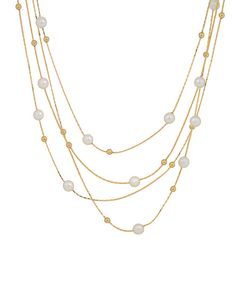 Gold Pearl Strands Necklace | zulily
