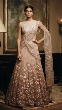 Indian Gowns, Indian Attire, Indian Outfits, Indian Clothes, Indian Wear, Bridal Lehenga, Bridal Gowns, Bridal Outfits, Indian Reception Dress