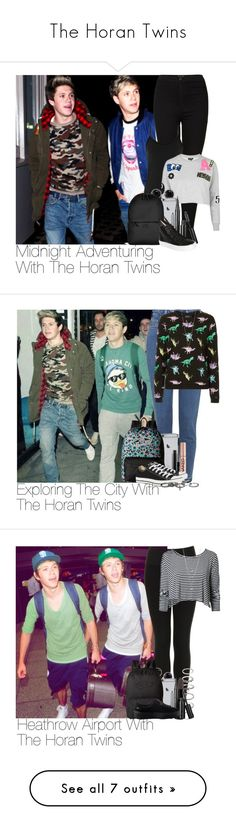 """The Horan Twins"" by lauren-beth-owens ❤ liked on Polyvore featuring Topshop, Reiss, Annello, Rains, Marc Jacobs, Minna Parikka, Vans, MAC Cosmetics, Urban Decay and Converse"