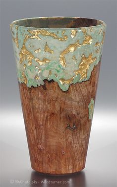 One-of-a-kind big leaf maple burl memorial urn created by Robert Chatelain