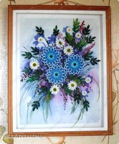 Картина панно рисунок 8 марта День матери День рождения Квиллинг Весна Акварель Бумага фото 3