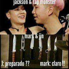 Nam e Jackson se fizeram >:') Namjin, K Meme, Kpop Memes, Bts Meme Faces, Bts Boys, Bts Bangtan Boy, K Pop, Shawn Mendes Memes, Kpop Couples