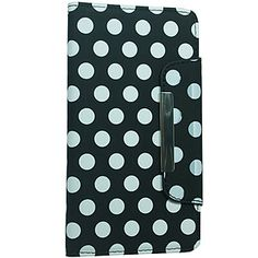 Vertical Wallet Case for Samsung Galaxy Note 3 - White Dots Black