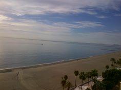 Playas de Estepona. Vistas desde Apartamento ubicado en Paseo Marítimo.
