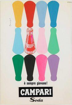 Campari Soda advertisements by Franz Marangolo, circa Via the Estorick Collection. Retro Ads, Vintage Advertisements, Vintage Ads, Vintage Posters, Vintage Advertising Posters, Retro Posters, Vintage Green, Vintage Images, Movie Posters