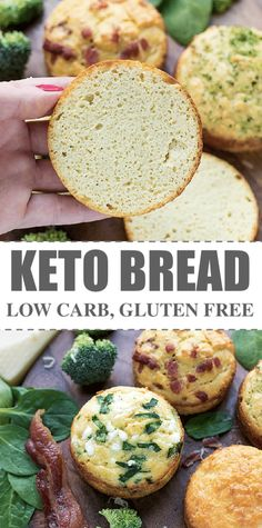 Keto Bread Recipe -quick and simple way to make low carb, gluten free, individual keto bread rolls, in ramekins and just a few healthy ingredients. You can either bake it in the microwave for 90 seconds or in the oven for 10-15 minutes. The the-easiest, the-best kept bread recipe I've ever tried.  #ketorecipes #ketobread #ketodiet #lowcarb #lowcarbrecipes via @cookinglsl