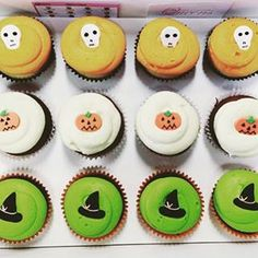 RIP little cupcakes...I think you're about to be devoured!  We love this spook-tacular photo by @mwlng.  These scarily delicious cupcakes are available in store today & tomorrow for Halloween treating