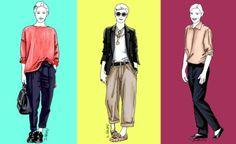 3 Outfits, in denen zeitlose Basics die Hauptrolle spielen: schwarze Hose, Chino-Hose, weißes T-Shirt, Hemdbluse, Pullover und Blazer. Aber jedes Outfit hat seinen eigenen Charme - dank ein paar Fashion-Tricks...