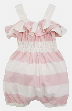 Ralph Lauren Stripe Coveralls (Infant) available at Nordstrom