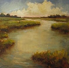 Creekside by artist Barbara Davis. #landscapepainting found on the FASO Daily Art Show - http://dailyartshow.faso.com