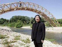 This guy made a bridge out of cardboard tubes. So that's pretty badass.