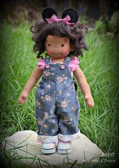 Daisy-handmade natural fiber doll by Mon Petit Frère