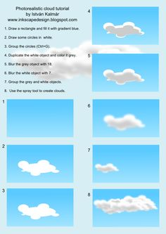 Photorealistic clouds in inkscape