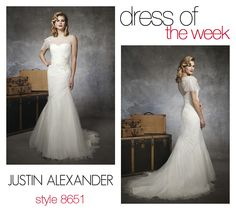 Dress Of The Week: 8651- This is one of our favorite illusion neckline wedding dresses from the Spring 2013 collection. It's elegant, chic and perfect for your wedding!