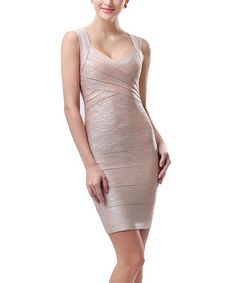 This Peach Bandage Cutout Bodycon Dress by Phistic is perfect! High Fashion, Womens Fashion, Short Cocktail Dress, Lovely Dresses, Affordable Fashion, I Dress, Cute Outfits, Bodycon Dress, My Style
