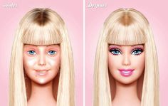 Barbie before plastic surgery, botox & make up...