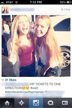 And here are two other girls who have rich little daddies to get these for them. THEY DONT EVEN KNOW THIER NAMES!!! This is a band that means the world to me and I didn't get VIP tickets! NO JUST NO. I DON'T WANNA LIVE ANYMORE WITH THESE KINDA PEOPLE< Lol chill the fuck out, you're just jealous that they got tickets and YOU didn't<< we'll yeah! obviously. it's not fair they got them and don't even know their names when we are dedicated and would do anything to go see them.