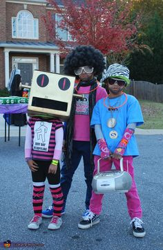 Party Rockers.  - Homemade costumes for kids, My kids love Sexy and I know it so this is such a great idea!
