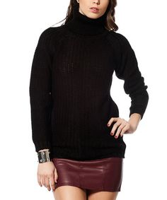 Look at this #zulilyfind! Black Turtleneck Sweater #zulilyfinds