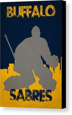 Sabres Canvas Print featuring the photograph Buffalo Sabres Shadow Player by Joe Hamilton