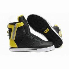 a1595119e2b supra skytop perf black yellow high tops men sneakers Michael Jordan Shoes