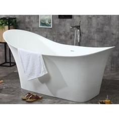Spa inspired bathtubs such as the ALFI BRAND free standing resin soaking tubs, have become a popular choice for individuals looking to add a sculptural element to their bathroom decor. These tubs do not Unclog Bathtub Drain, Vintage Bathtub, Cottage Bath, Floor Drains, Soaker Tub, Dream Bathrooms, Solid Surface, Resin, Bathroom Ideas
