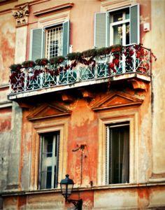 Italy Photography - Italian Architecture Print - Rome Photograph - Doors Windows Art - Autumn Home Decor - Teracotta Orange