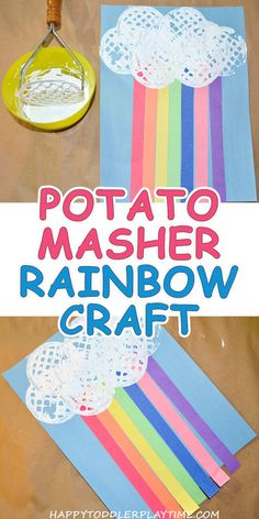 Rainbow Craft – HAPPY TODDLER PLAYTIME Toddler Preschool, Rainbow Crafts Preschool, Toddler Arts And Crafts, Rainbow Activities, Summer Crafts For Toddlers, Toddler Snacks, Spring Crafts For Preschoolers, Spring Craft Preschool, Spring Toddler Crafts