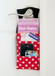 Door organizer - saw this on Facebook.