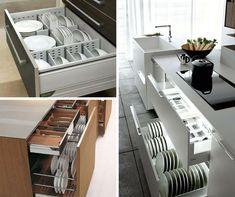 9+1 elképesztően praktikus és gyönyörű konyhafiók - Konyhatrend Home Kitchens, Projects To Try, Organization, Storage, House, Modern Kitchens, Trendy Tree, Organisation, Haus