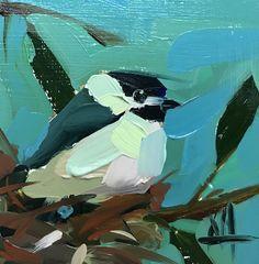 Chickadee no. 928 Original Oil Painting by Angela Moulton pre-order
