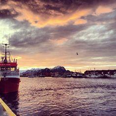 Il tramonto rientrando ad Andenes dopo il Whale Safari... #MagicNorway