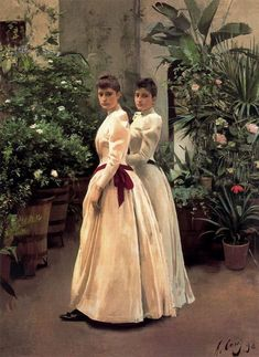⊰ Posing with Posies ⊱ paintings & illustrations of women & children with flowers - Ramón Casas
