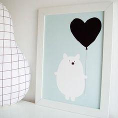 Bear Heart Children's Print
