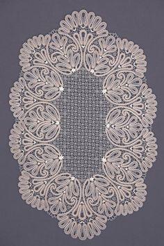 Салфетка   Снежинка: Вологодское кружево