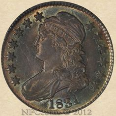 1831 Capped Bust Half AU58 PCGS O-109 R.1, obverse