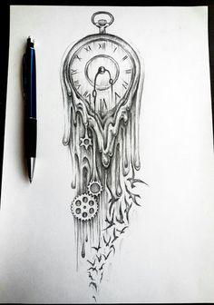 Time tattoo sketch