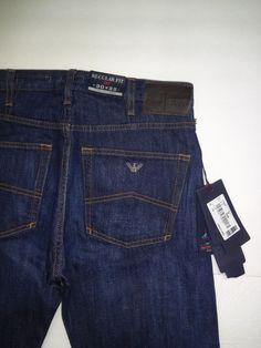 Men's Armani Jeans J21 Regular Fit Dark Wash Jeans Size 30x32 #ArmaniJeans #ClassicStraightLeg