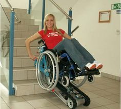 The only stairclimber worldwide that allows using your own wheelchair without the need for an assisting person